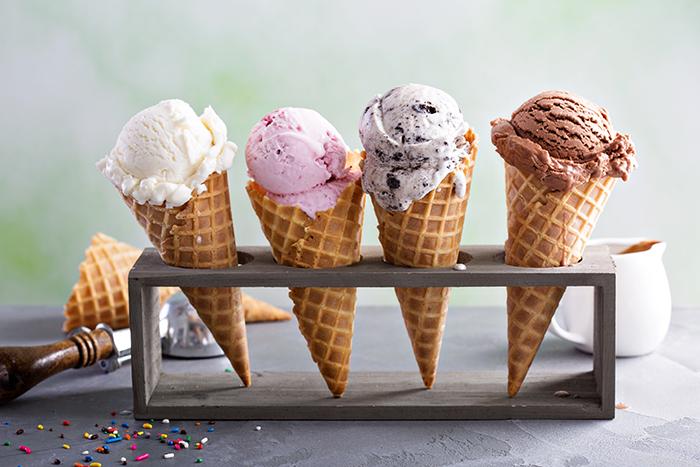 ice cream cones flavours